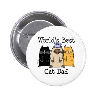 World s Best Cat Dad Button
