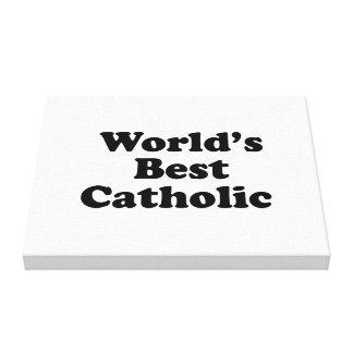 World s Best Catholic Canvas Print