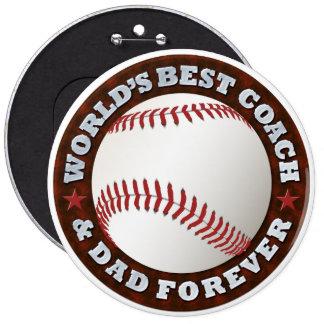 World s Best Coach Dad 1 Button