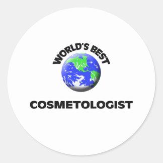 World s Best Cosmetologist Round Stickers