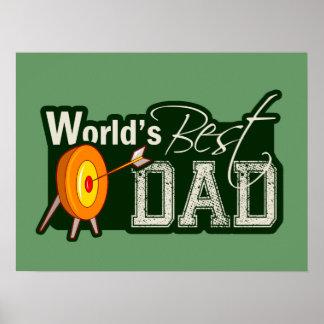 World s Best Dad Archery Print