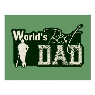 World s Best Dad Baseball Postcard