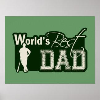 World s Best Dad Baseball Poster