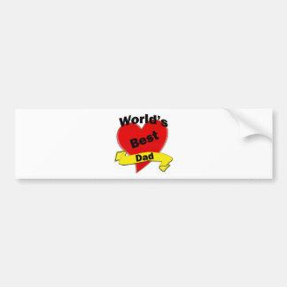 World s Best Dad Bumper Sticker