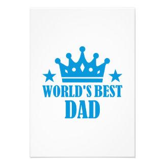 World s Best Dad Custom Invitations