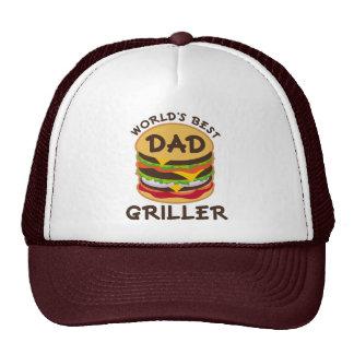 World s Best Dad Griller BBQ Theme Gift Hat