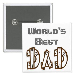 World s Best Dad In His Language Button