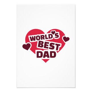 World s best Dad Invite