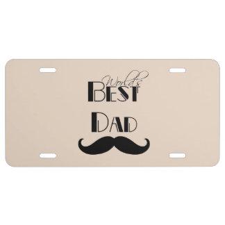 World s Best Dad Mustache License Plate
