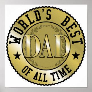 World s Best Dad Print