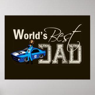 World s Best Dad Racing Poster