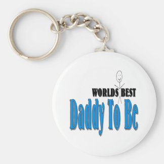 World s Best Daddy To Be Keychain