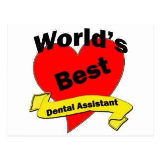 World s Best Dental Assistant Postcard