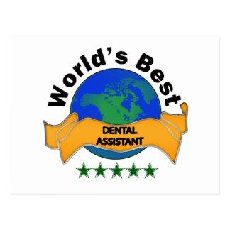 World s Best Dental Assistant Post Card