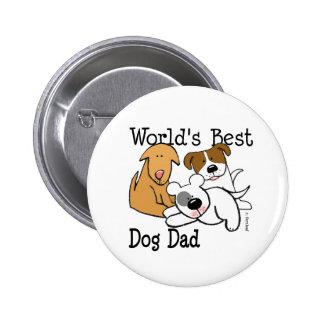 World s Best Dog Dad Button