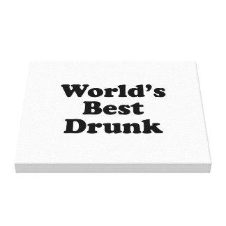 World s Best Drunk Canvas Print