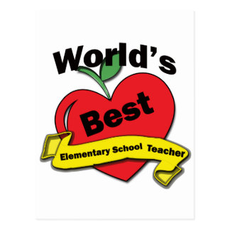 World s Best Elementary School Teacher Postcard
