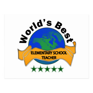 World s Best Elementary School Teacher Post Card