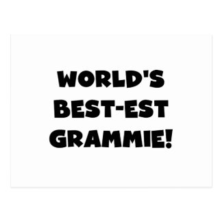 World s Best-est Grammie Black or White Gifts Post Cards