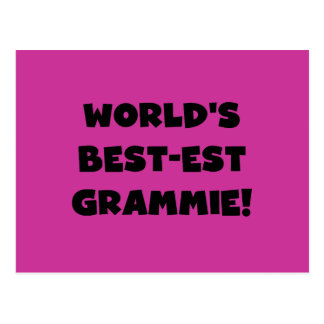 World s Best-est Grammie Black or White Gifts Postcards