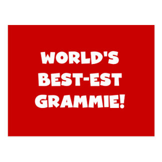 World s Best-est Grammie White T-shirts and Gifts Postcards