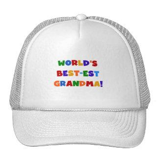 World s Best-est Grandma Bright T-shirts and Gifts Trucker Hats