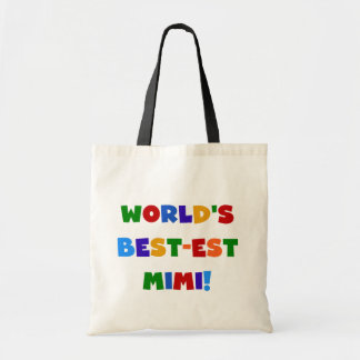 World s Best-est Mimi Bright Colors T-shirts Gifts Canvas Bags