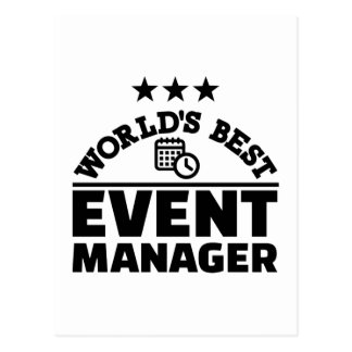 World's best event manager postcard