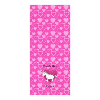 World s best friend cute unicorn customized rack card