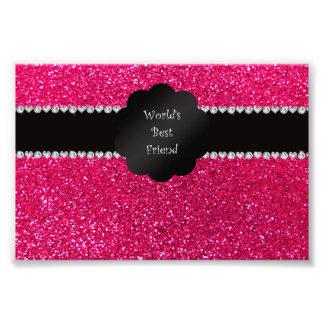 World s best friend pink glitter photo