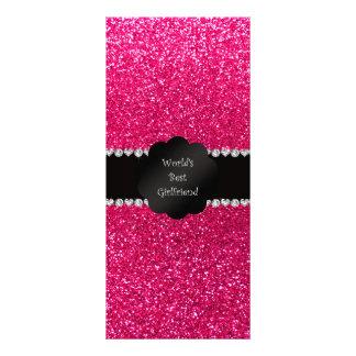 World s best friend pink glitter custom rack card