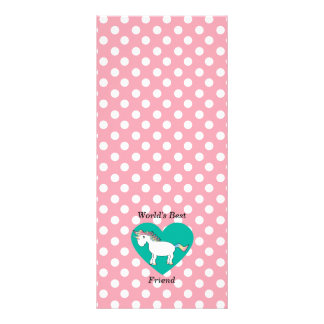 World s Best friend unicorn Personalized Rack Card