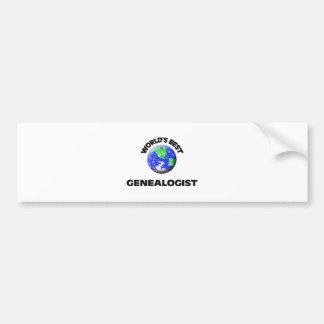 World s Best Genealogist Bumper Sticker