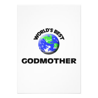 World s Best Godmother Custom Invites
