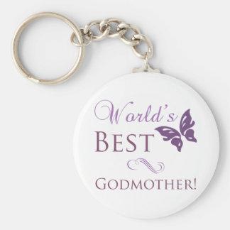 World s Best Godmother Keychain