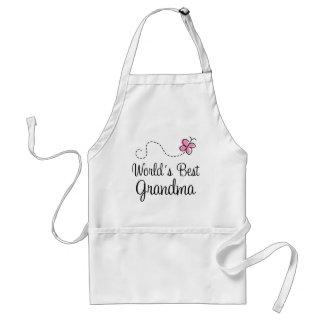 World s Best Grandma Butterfly Gift Apron