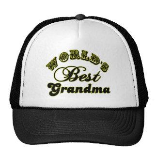World s Best Grandma Gifts and Grandma Apparel Mesh Hats