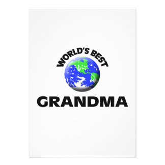 World s Best Grandma Personalized Announcement