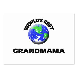 World s Best Grandmama Business Cards