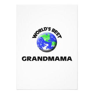 World s Best Grandmama Invites