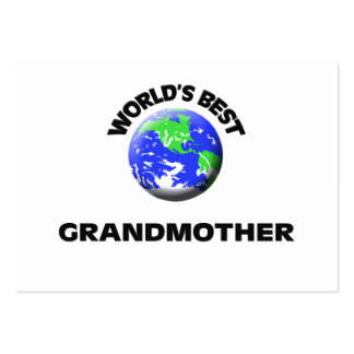 World s Best Grandmother Business Card Template