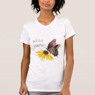 World s Best Grandmother -Butterfly Flowers T Shirt