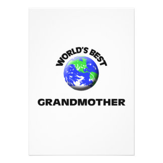 World s Best Grandmother Custom Invitations