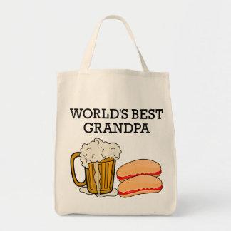 World s Best Grandpa Canvas Bag