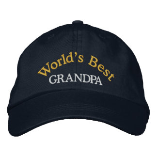 World s Best Grandpa Embroidered Baseball Cap Hat