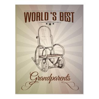 World s best grandparents postcard