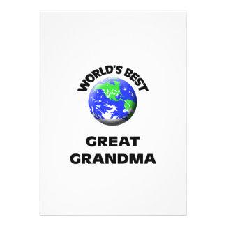 World s Best Great Grandma Custom Invites