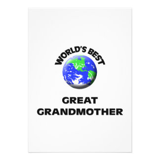 World s Best Great Grandmother Custom Announcement