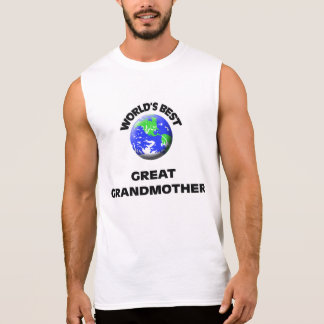 World s Best Great Grandmother Sleeveless Tee