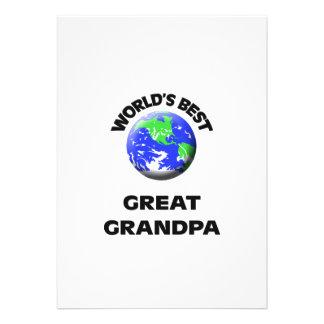 World s Best Great Grandpa Custom Invitations
